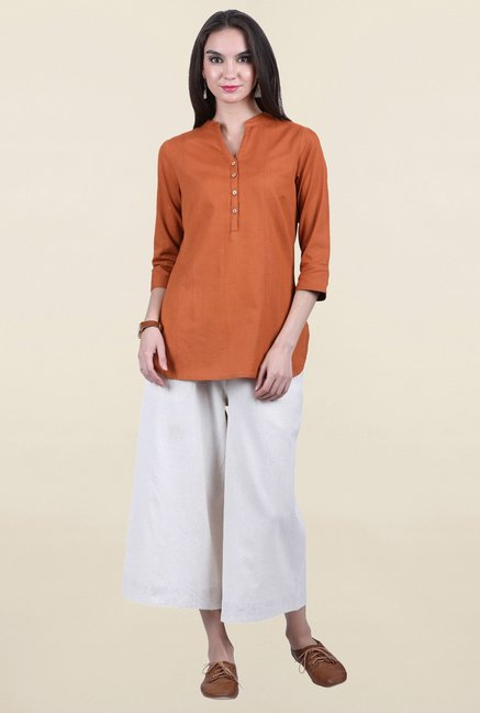 Juniper Brown Solid Kurti