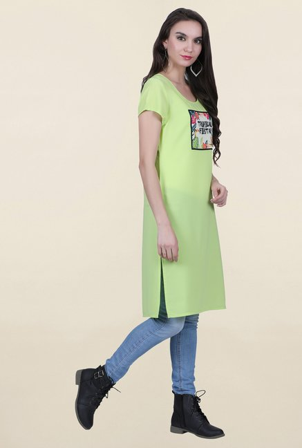 Juniper Green Printed Kurta