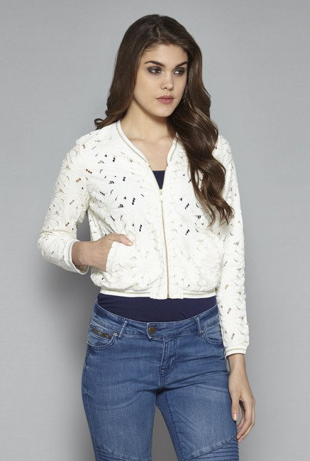 657febedd9bcd Buy Nuon by Westside Off White Jackie Jacket for Women Online   Tata CLiQ