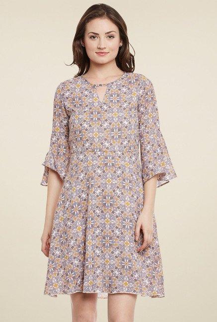 Meee Beige Round Neck Dress