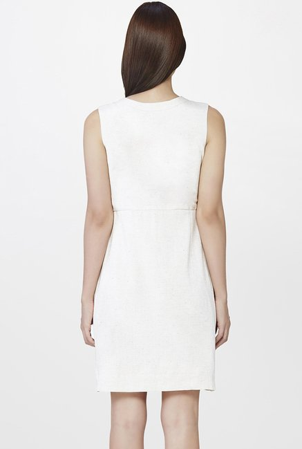 AND Off White Textured Dress