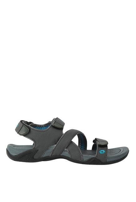 86028be6994d Buy Lotto Dylan Fresh Dark Grey   Sky Blue Floater Sandals for Men at Best  Price   Tata CLiQ