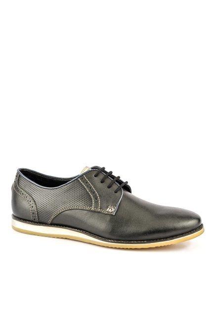 ID Black Derby Shoes