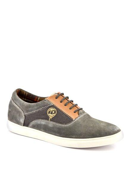 ID Grey & Tan Oxford Shoes