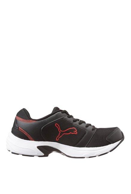 64b633e8258 Buy Puma Splendor DP Black   Ribbon Red Running Shoes for Men at ...
