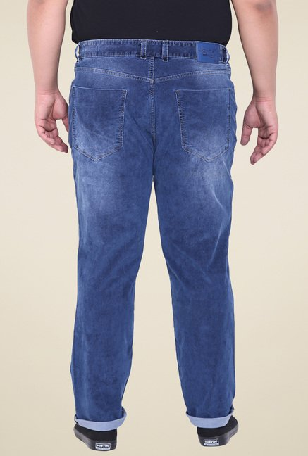 John Pride Dark Blue Comfort Fit Jeans