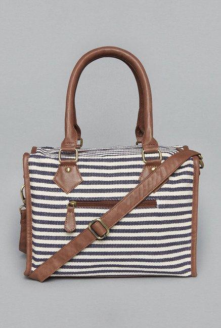 Buy Westside Navy   White Ekta Satchel Bag for Women Online   Tata CLiQ 6366be7150