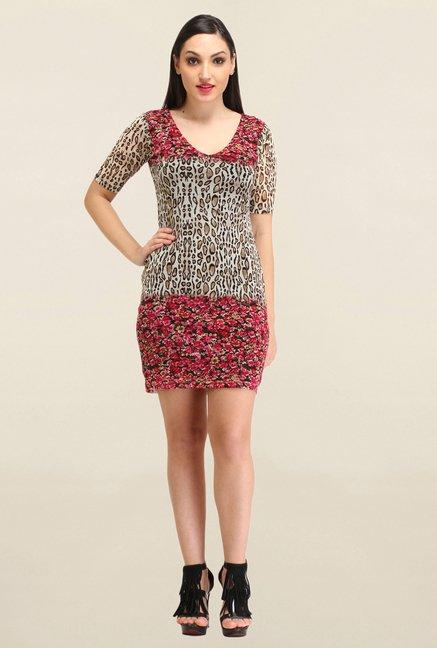 Buy Cation Multicolor Printed Dress for Women Online   Tata CLiQ e3698dde5