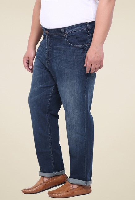 John Pride Blue Comfort Fit Mid Rise Jeans