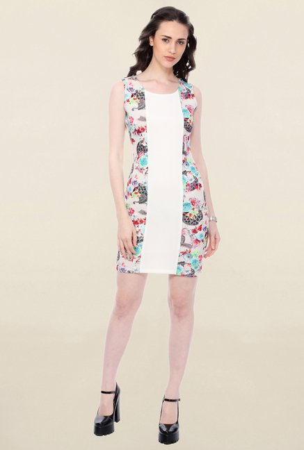 Buy Cation White Printed Dress for Women Online   Tata CLiQ bdd8513ca