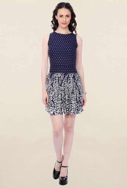 Buy Cation Navy Printed Dress for Women Online   Tata CLiQ 3122d641f