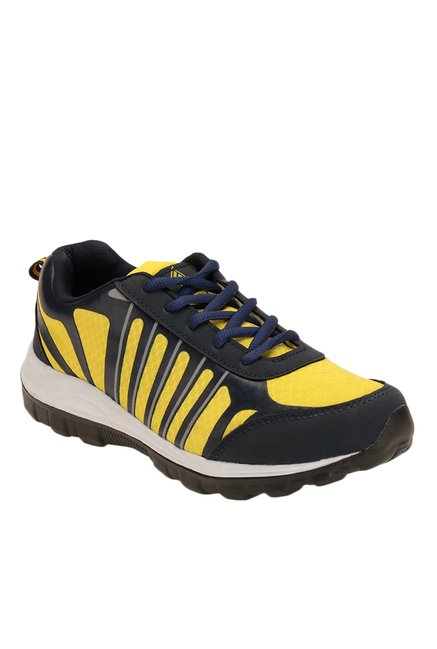 26ee258711bf Buy Spiky Navy   Yellow Training Shoes for Men at Best Price   Tata CLiQ
