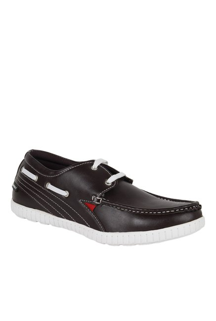 3e4944b4384 Buy Spiky Chocolate Brown Boat Shoes for Men at Best Price   Tata CLiQ