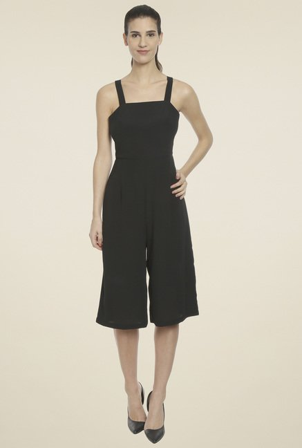 Love Gen Black Square Neck Jumpsuit