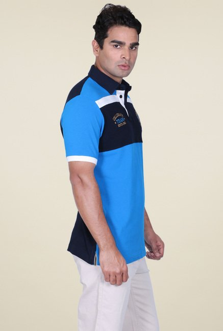 Proline Aqua Blue Cotton Polo T-Shirt