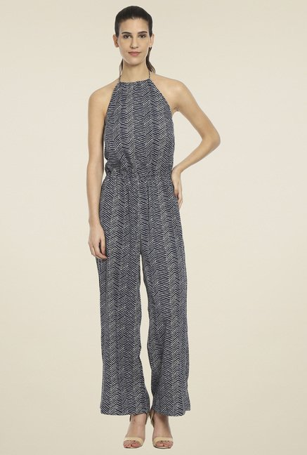 Love Gen Navy Halter Neck Jumpsuit