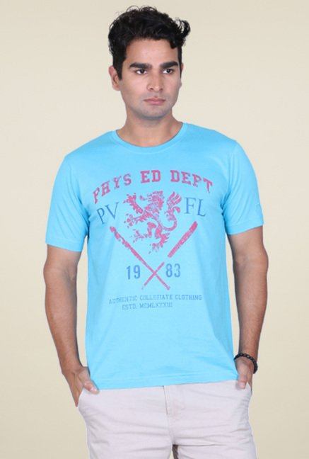 Proline Blue Printed T-Shirt