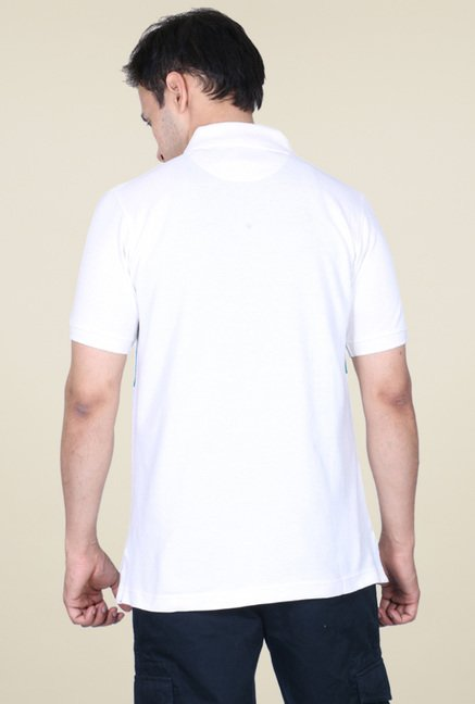 Proline White Cotton Polo T-Shirt