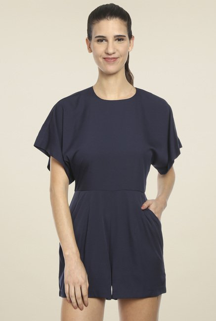 Love Gen Navy Round Neck Playsuit