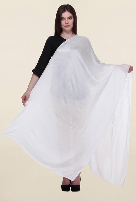 W White Textured Dupatta