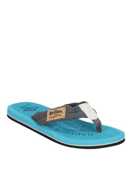 ecb91877854cd Buy Lee Cooper Grey   Sky Blue Flip Flops for Men at Best Price   Tata CLiQ