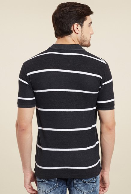 Duke Black Regular Fit Polo T-Shirt