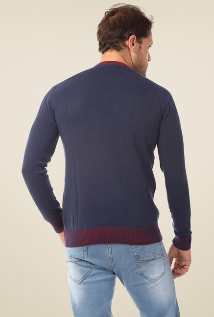 Club Fox Navy Round Neck Sweater