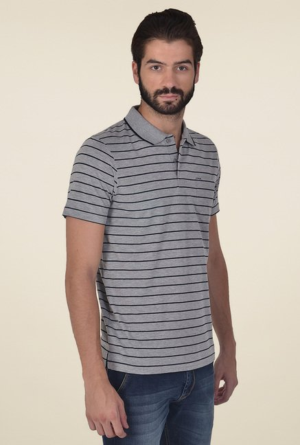 Club Fox Grey Half Sleeves Polo T-Shirt