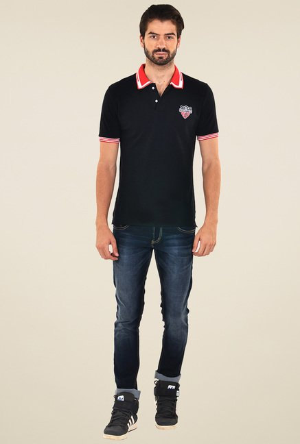 Yoo Black Slim Fit T-Shirt