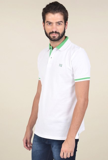 Club Fox White Cotton Polo T-Shirt