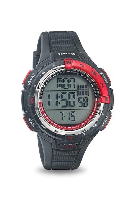 SF by Sonata 77013PP01J Chronograph Digital Watch for Men