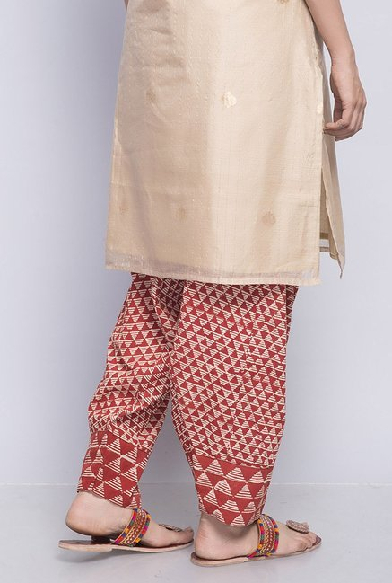 Fabindia Red Printed Salwar