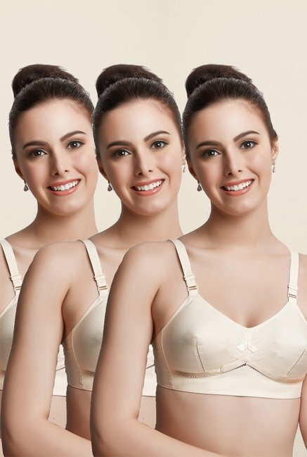 Libertina Beige Princess S.S. Non Padded Bra (Pack Of 3)