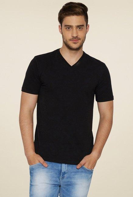 c830afb61f0a Buy Globus Black V-Neck T-Shirt for Men Online @ Tata CLiQ