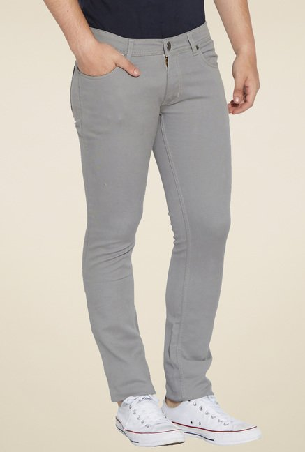 Globus Grey Slim Fit Trousers