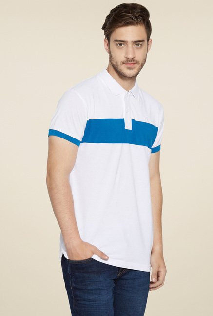 Globus White Regular Fit T-Shirt