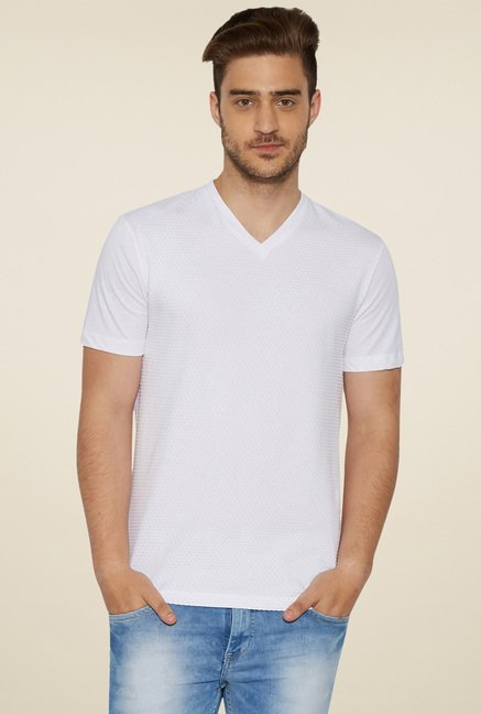 Globus White Short Sleeves T-Shirt