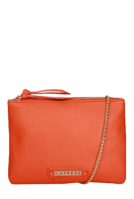 Caprese Candy Orange Solid Sling Bag