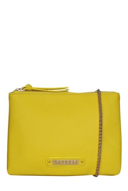 Caprese Candy Lemon Yellow Solid Sling Bag