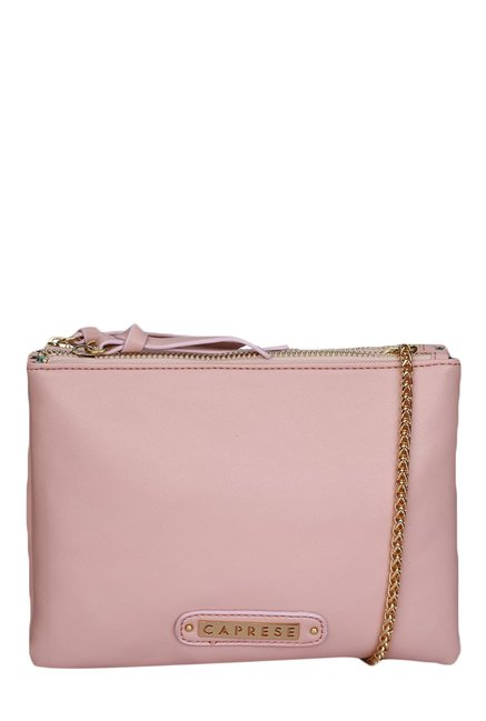 Caprese Candy Blush Solid Sling Bag