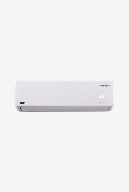 Carrier 1 Ton 4 Star (BEE Rating 2017) Superia 4i Inverter Split AC (White)