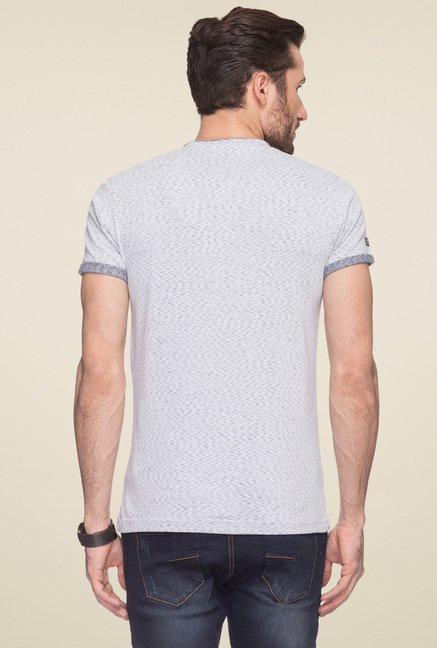 Status Quo Light Grey Regular Fit T-Shirt