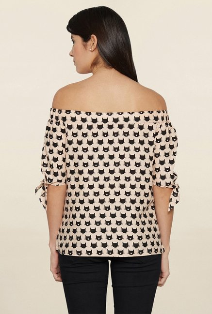 Globus Peach Printed Top