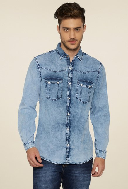 Globus Indigo Full Sleeves Shirt