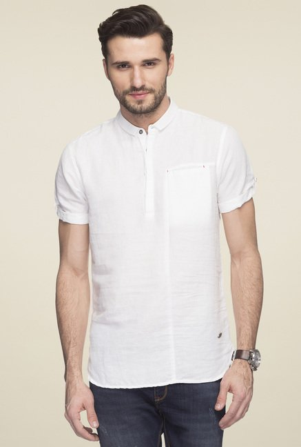 Status Quo White Slim Fit Shirt