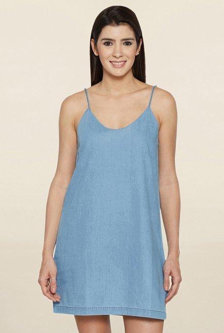 Globus Blue Scoop Neck Dress