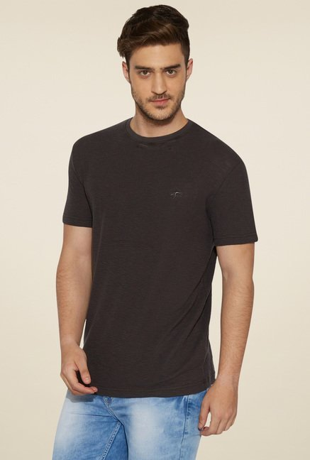 Globus Charcoal Cotton T-Shirt