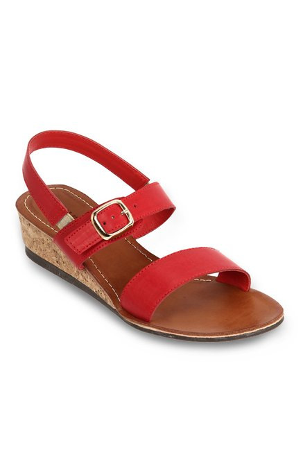 466775bc28a Buy Lavie Red Ankle Strap Wedges for Women at Best Price   Tata ...