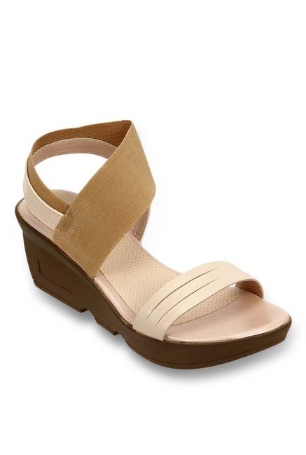 45a0814a4770 Buy Lavie Beige   Brown Sling Back Wedges for Women at Best Price ...