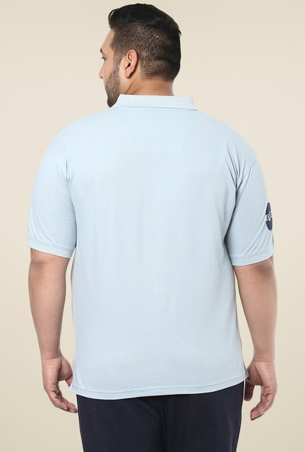 John Pride Light Blue Regular Fit Polo T-Shirt